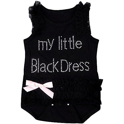 De los bebés del mono, Amlaiworld vestido de encaje bordado Negro Body