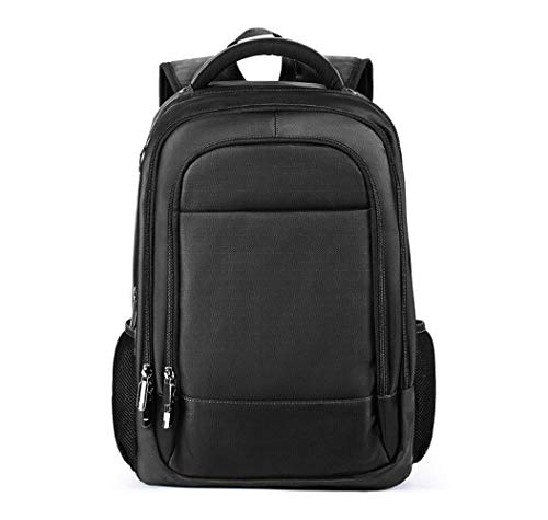 Holzkohle Schwarz Notebook (WANGXL Business Laptop Rucksack, mit USB-Ladeanschluss Rucksack Fluggenehmigung, Fit 15,6-Zoll-Laptop für Reisen/Business/College/Männer/Frauen-Holzkohle Schwarz)