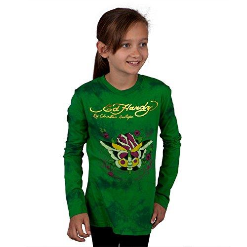 Ed Hardy Mädchen T-Shirt Grün Grün