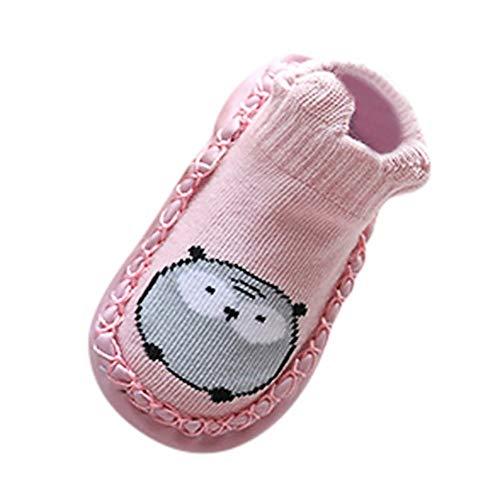 Bebe Niña Animal Zapatos, SunGren Bebé Chica Niño CalceBebéses Antideslizantes Zapatillas Zapatillas Botas First Walker Zapatos (Rosado,Años:6-12M