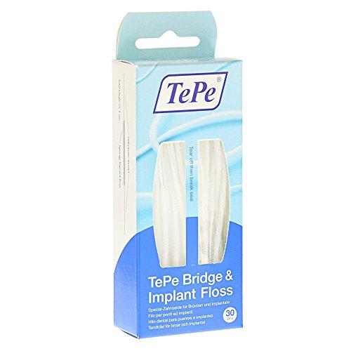 TePe Bridge und Implant Floss, 1er Pack (1 x 30 Stück)