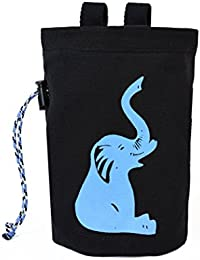 Chaandu Blue Elephant Chalk Bag With Belt And Pocket For Phone, ID & More For Rock Climbing - No Elastic Brush...