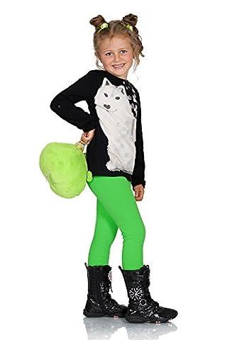 Futuro Fashion Chaud Épais Enfants Leggings Coton Filles Pantalon Uni Longue Enfants Pantalon Âge 2 3 4 5 6 7 8 9 10 11 12 13 - Vert, 6 Ans