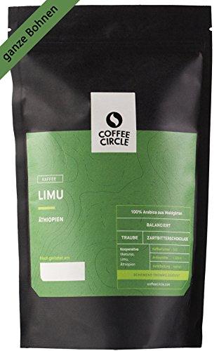 Coffee Circle | Premium Kaffee Limu | 1kg ganze Bohne | Blumiger Filterkaffee aus äthiopischen Waldgärten | 100% Arabica | fair & direkt gehandelt | frisch & schonend geröstet
