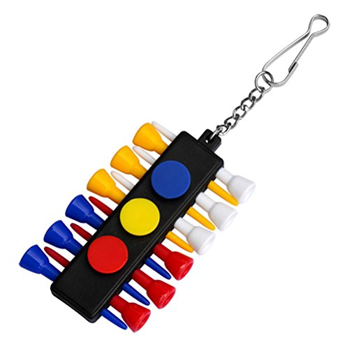 WINOMO Colorful Golf Tees 83mm Rubber Cushion Top Accessories