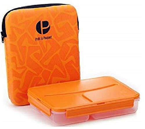 Scatola porta pranzo lunchbox termico - pret a paquet porta pranzo suddiviso in 3 scompartimenti, con fodera isolante, lunbox bambini, 1l