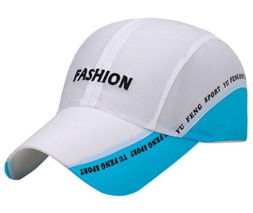 Panegy Trucker Hut, schnelltrocknend, Atmungsaktives Netzgewebe, LSF 50+, Lange Krempe, Verstellbare Snapback-Baseballkappe, Damen Mädchen Jungen Herren, weiß, One Size (Frauen Hüte Für Trucker)