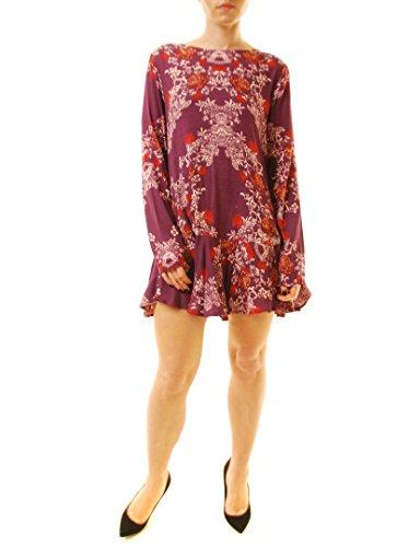 Free People Violett (Free People Damen Smooth Talker Floral Print Kleid Purple M)