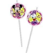 Amscan International 81686 - Decoración para pajitas, diseño de Minnie Mouse y Daisy