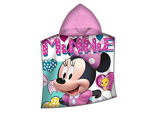 Disney Minnie WD19477 Poncho Mare, Bambina, Asciugamano, Cotone, Piscina, Multicolore