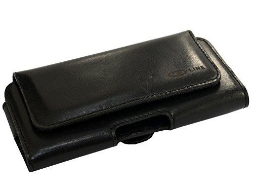 ORLINE tasche per cellulari Apple iPhone 64,7pollici Custodia elegante in custodia orizzontale e di passante per cintura e clip design Slim Case in vera pelle Custodia von ORLINE in Ne