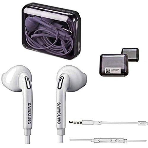 Samsung Handy Stereo Premium Headset in der Samsung Jewel Case Box - In-Ear Kopfhörer - Freisprecheinrichtung - in der Farbe Weiß für kompatible Samsung Mobiltelefone mit 3,5 mm Klinke