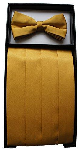 Kummerbund und Fliege, Antique Gold/Goldfarben, 1 Set