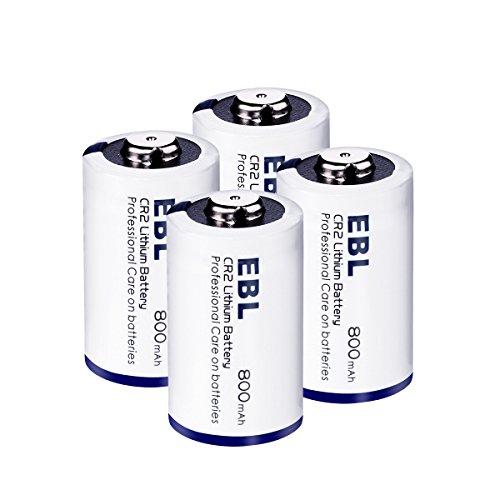 EBL 4 Piezas 3V CR2 800mAh Baterías de Litio