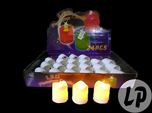 24Velas LED parpadeante llama modelo.04(expositor)–Calidad coolminiprix®
