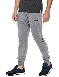 Proline Men Mid Grey Marl Cotton Polyester Jogger Fit Solid Jogger
