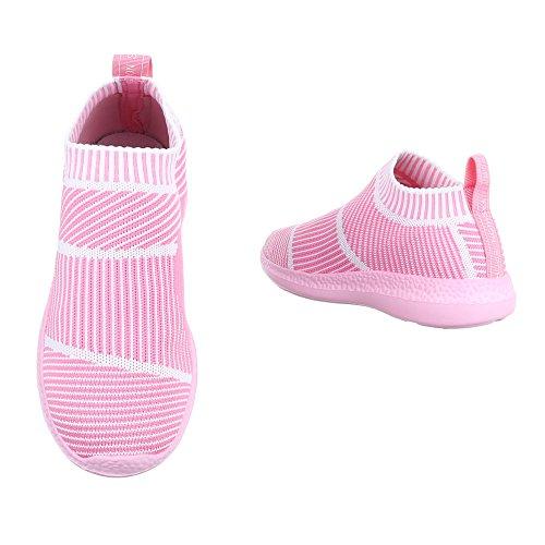 Slipper Damenschuhe Herrenschuhe Leichte Unisex Sneakers Ital-Design Halbschuhe Rosa