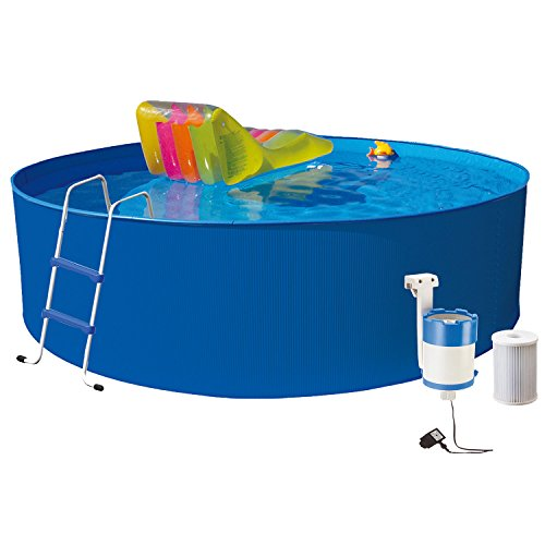 Hecht Stahl-Pool Bluesea Rund-Becken Stahl-Wand Swimmingpool (wählbar)