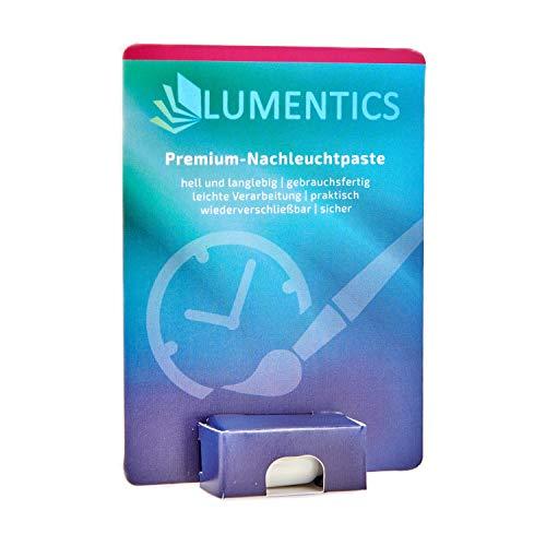 Preisvergleich Produktbild lumentics Premium Leuchtpaste - Im Dunkeln phosphoreszierende Uhrenfarbe. Leuchtende Zeigerfarbe. Selbstleuchtende UV-Bastelfarbe, Glow (Natur/Blau-Grün)