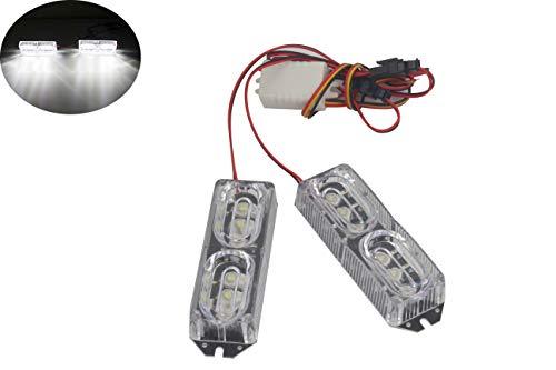Haute Puissance 12 LED DRL pour moto Strobe Frein de la lumière du jour 12 V de voiture Flash avertissement lampe 12 W