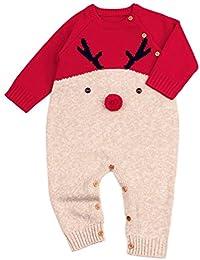 QUICKLYLY Peleles Navidad Bebé Niño Niña Crochet Punto Recién Infantil ...