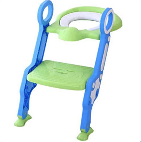 QKDSA Toilettensitz für Bebè Kid Trainer Töpfchen mit Treppe für Mädchen und Mädchen blau - Bad Sicherheit Wc-sitz Zubehör