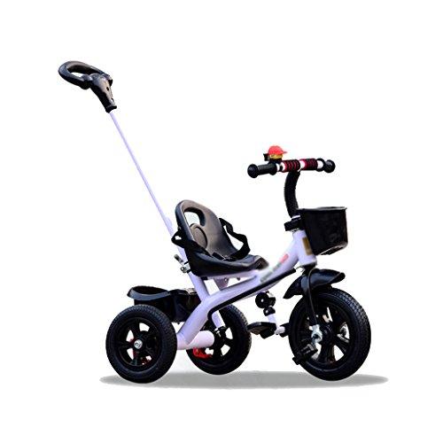 Kinder Dreirad abnehmbare Push-Baby-Fahrrad 1-3-5 Jahre altes Kind Fahrrad (Color : Weiß)