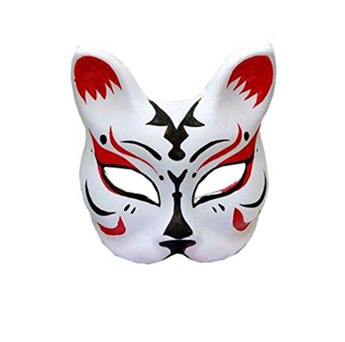 Maske für Erwachsene Karneval Saw Fasching Maske Kostüme Geist Fuchs Maske (Mehrfarbig ()