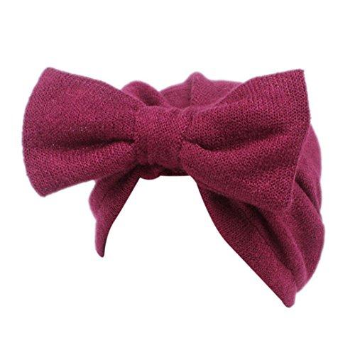 Baby Mütze Clode® Kinder Baby Mädchen Boho Hut Beanie Schal Turban Kopf Wrap Cap (Rot) (Mädchen Für Neue Accessoires)