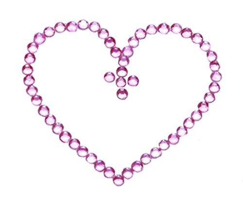 (Glamour bis–Hot Pink Diamant Herzen Easy Stick auf Bauch Tattoo/Body Jewel (zx149))