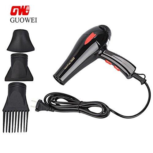 Sèche-cheveux professionnel 3000W à triple diffuseur avec peigne