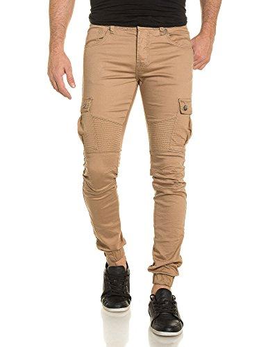 Gov Denim - Pantalon Joggpant léger homme beige Beige