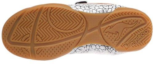 KangaROOS Lemar-Giraffe 1115A, Scarpe sportive ragazza Bianco (Weiss (wht/blk/amber 057))