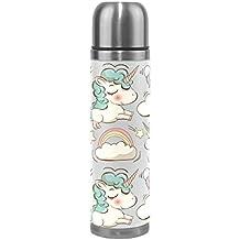 COOSUN Botella del unicornio Patern acero inoxidable Frascos de agua de vacío taza aislada a prueba