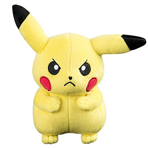 Pokemon Pikachu 8 Inch Plush Toy - Angry Pose