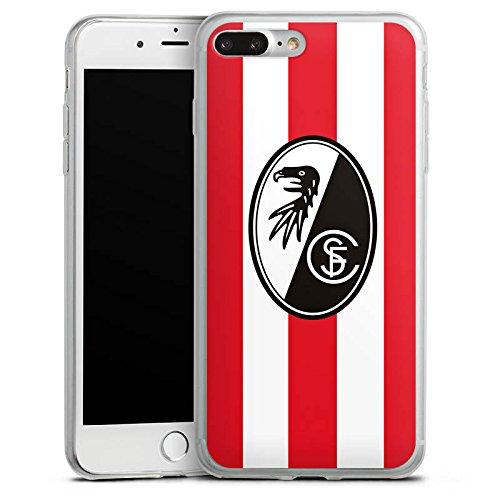 Apple iPhone X Slim Case Silikon Hülle Schutzhülle SC Freiburg Fanartikel Fußball Silikon Slim Case transparent