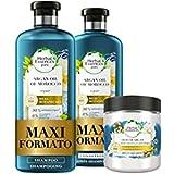 Herbal Essences Olio di Argan: Shampoo 400ml + Balsamo 360ml + Maschera 250ml, Ripara dai Danni, in Collaborazione con Giardi