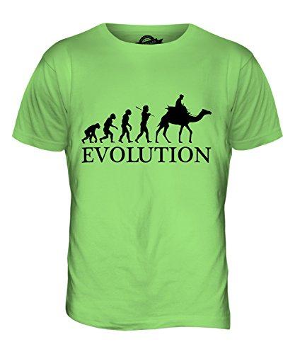 CandyMix Kamelrennen Kamelreiten Evolution Des Menschen Herren T Shirt Limettengrün