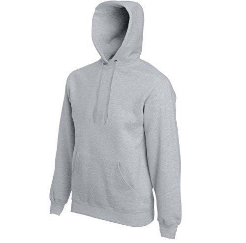 Kapuzen Sweatshirt von Fruit of the Loom Farbe zinc Größe XL