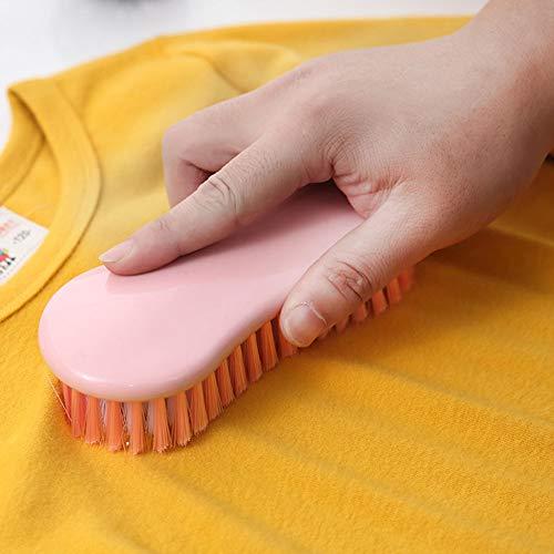 ürste Handschrubben Mini Multifunktions-Badezimmer Candy Farbe Haushalt Haushalt Schuhe Küche Waschen Kleidung Hausarbeit Für Wäsche-Werkzeug, Rose, Free Size ()