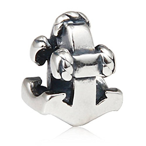 Nautica ancoraggio nave in argento sterling 925 charm bead fit european charms