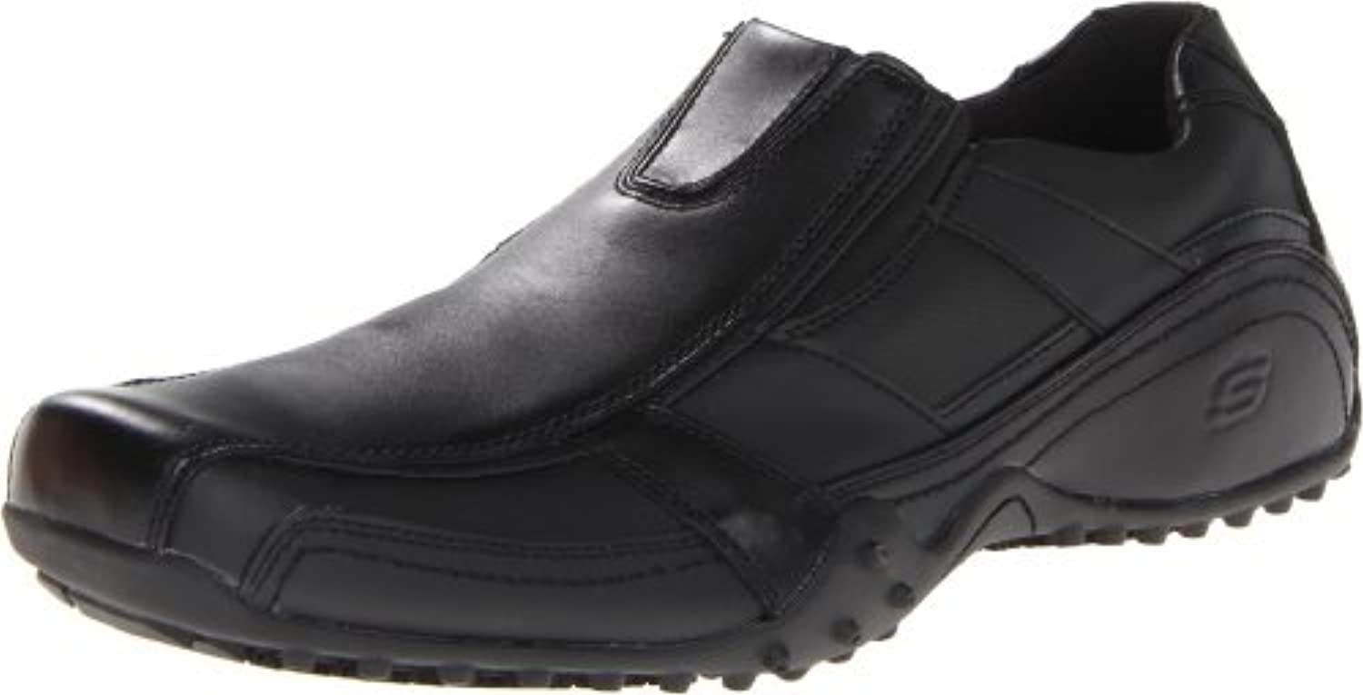 Skechers for Work Men's Rockland Hooper Slip Resistant Slip on Shoe