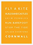 Surf-Poster, Fly A Kite, Cornwall