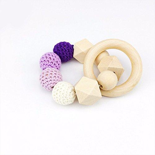 Best for baby Lebensmittelqualität Hölzerner Teether Ring 1PC Baby teether Pflege Armbänder Kauen Perlen Montessori Armbänder Geschenk Mama tragen