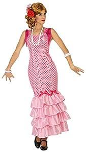 Atosa-38600 Disfraz flamenca, Color rosa, XS-S (38600