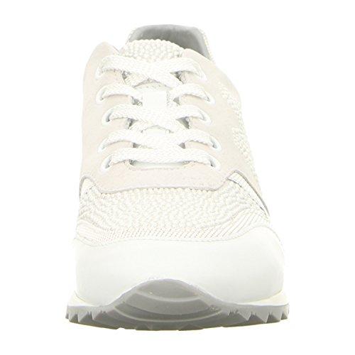 Maripé  24082-f.5159-15, Chaussures de ville à lacets pour femme bianco/argento