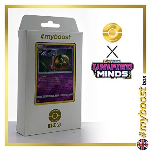 Aegislash (Durengard) 95HR/236 Wendbare Holo #myboost X Sun & Moon 11 Unified Minds - Box mit 10 Englische Pokémon-karten