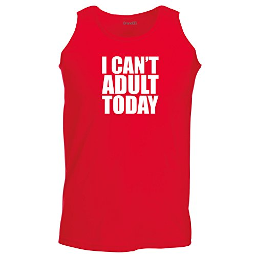 Brand88 - I Can't Adult Today, Unisex Athletic Weste Rot