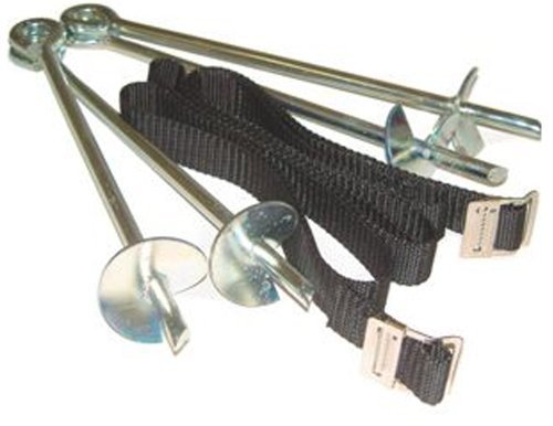 Heavy Duty Galvanized Trampoline Anchor Peg Kit Trampoline Tie Down Kit to Secure Outdoor Trampolines
