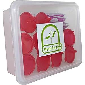 10 x Mittelstrahl Schwangerschaftstest HCG Midstream Test Casette+10 Urinbecher von Medi-Inn